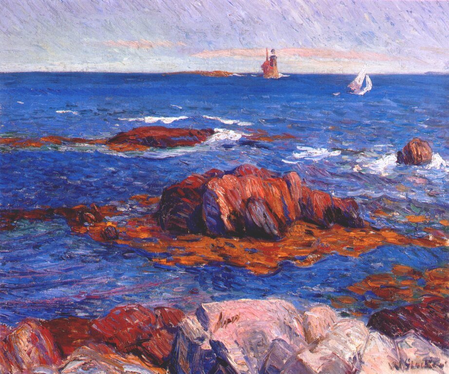 William James Glacens. Cliffs and lighthouse
