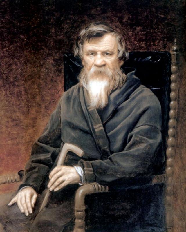 Василий Григорьевич Перов. Портрет историка Михаила Петровича Погодина