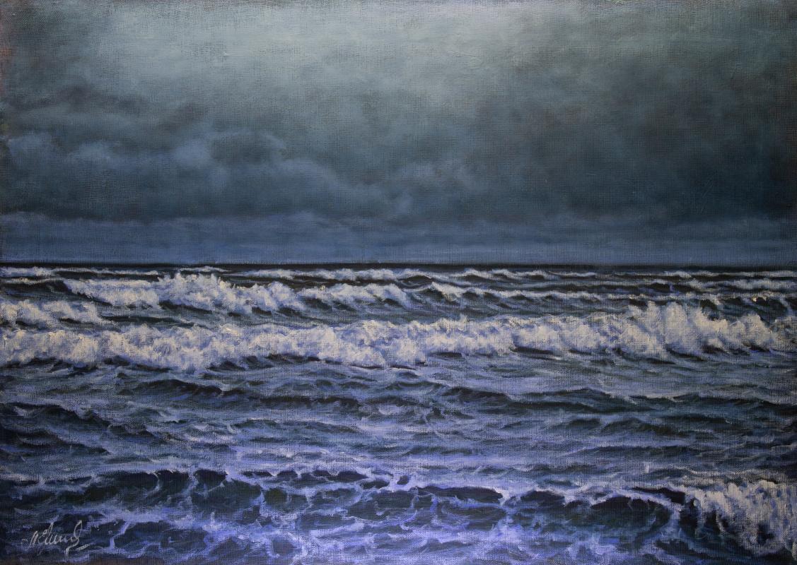 Valery Levchenko. № 607  Морской пейзаж.