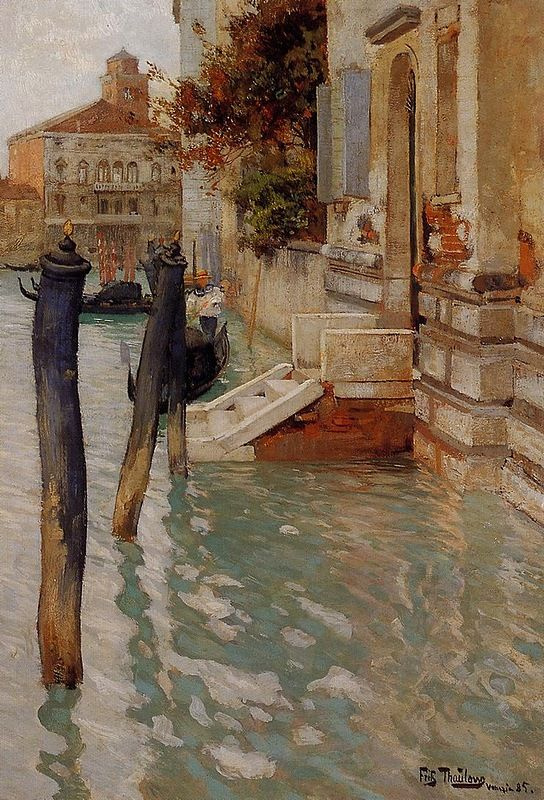 Frits Thaulow. On the Grand canal in Venice