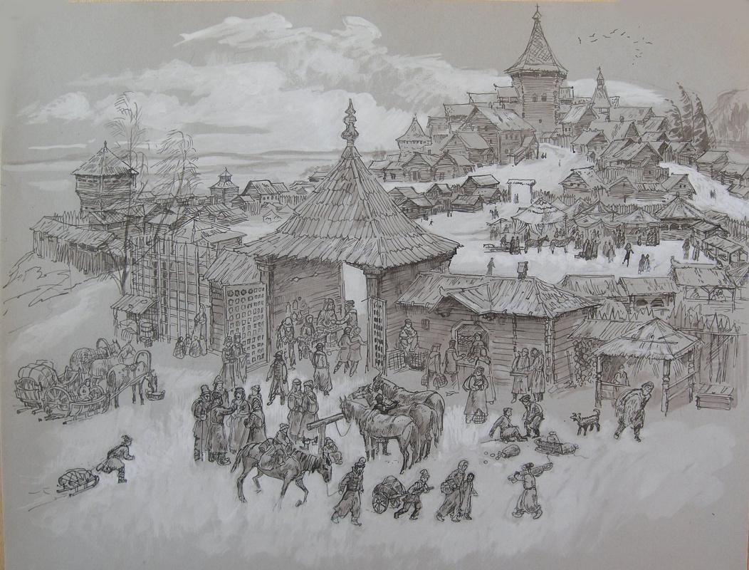 Sergey Georgievich Onipenko. Grey day. 17th century.