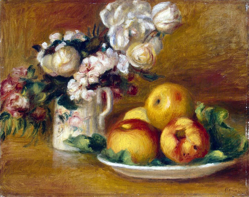 Пьер Огюст Ренуар. Яблоки и цветы