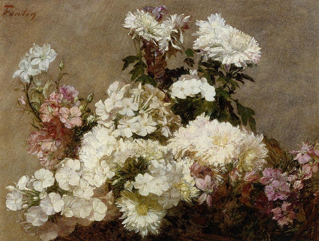 Henri Fantin-Latour. White chrysanthemums