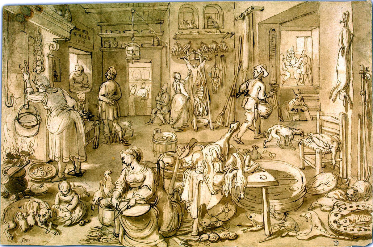 Питер Корнелис ван Рейк. Христос в Эммаусе