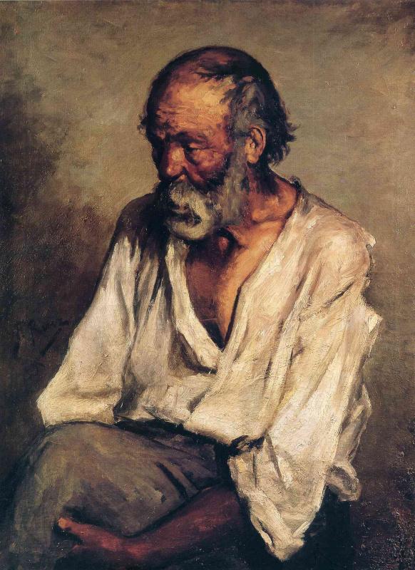 Пабло Пикассо. Старый рыбак