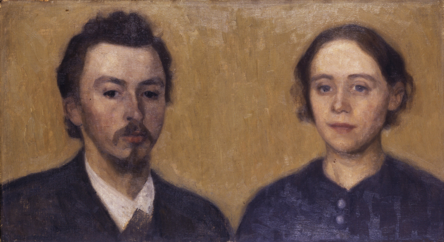 Vilhelm Hammershøi. Self-portrait with wife