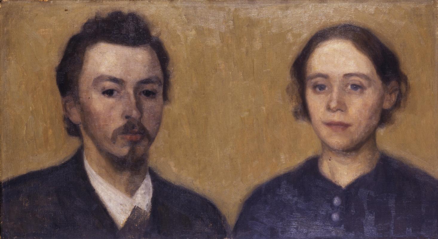 Vilhelm Hammershøi. Self-portrait with wife