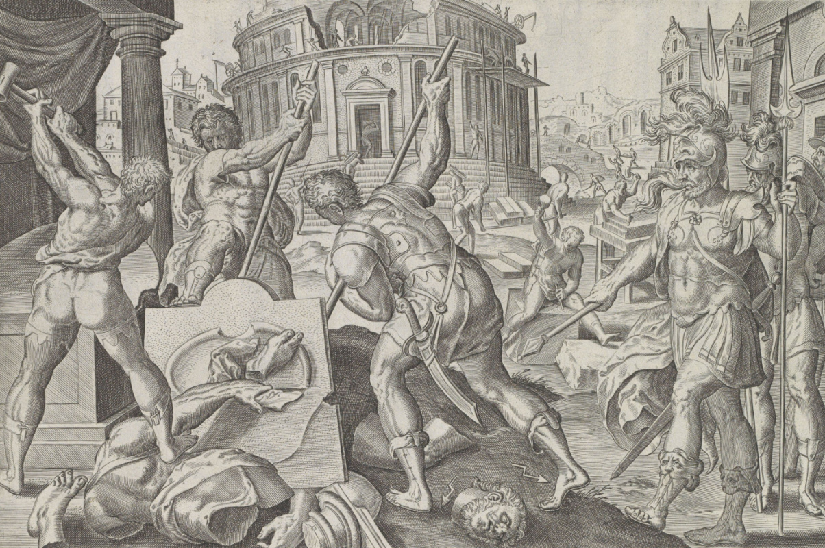 Johan Weerix. Destruction of the Temple of Jerusalem