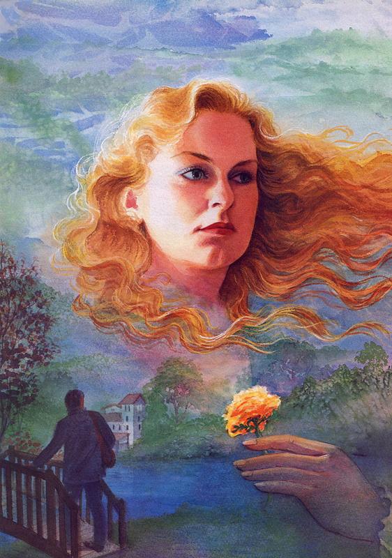 Мэри Окифф. Леди с цветком