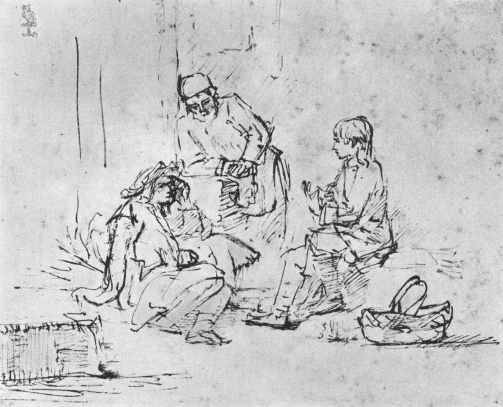 Рембрандт Харменс ван Рейн. Иосиф толкует сны своим сопленникам