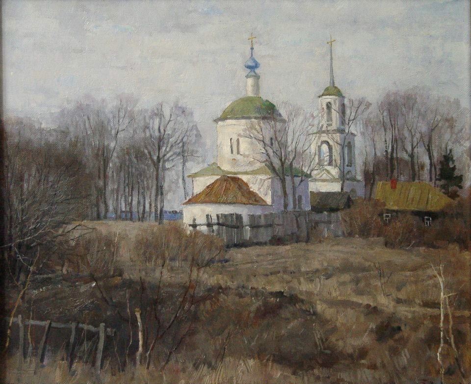 Boris Petrovich Zakharov. The snow melted in Borovsk.