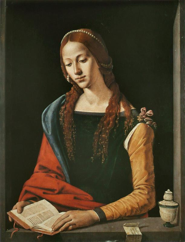 Пьеро ди Козимо. Читающая Мария Магдалина