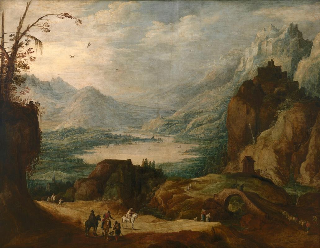 Jan Bruegel The Elder. Mountain landscape (joint with Jos de Momper Ml)