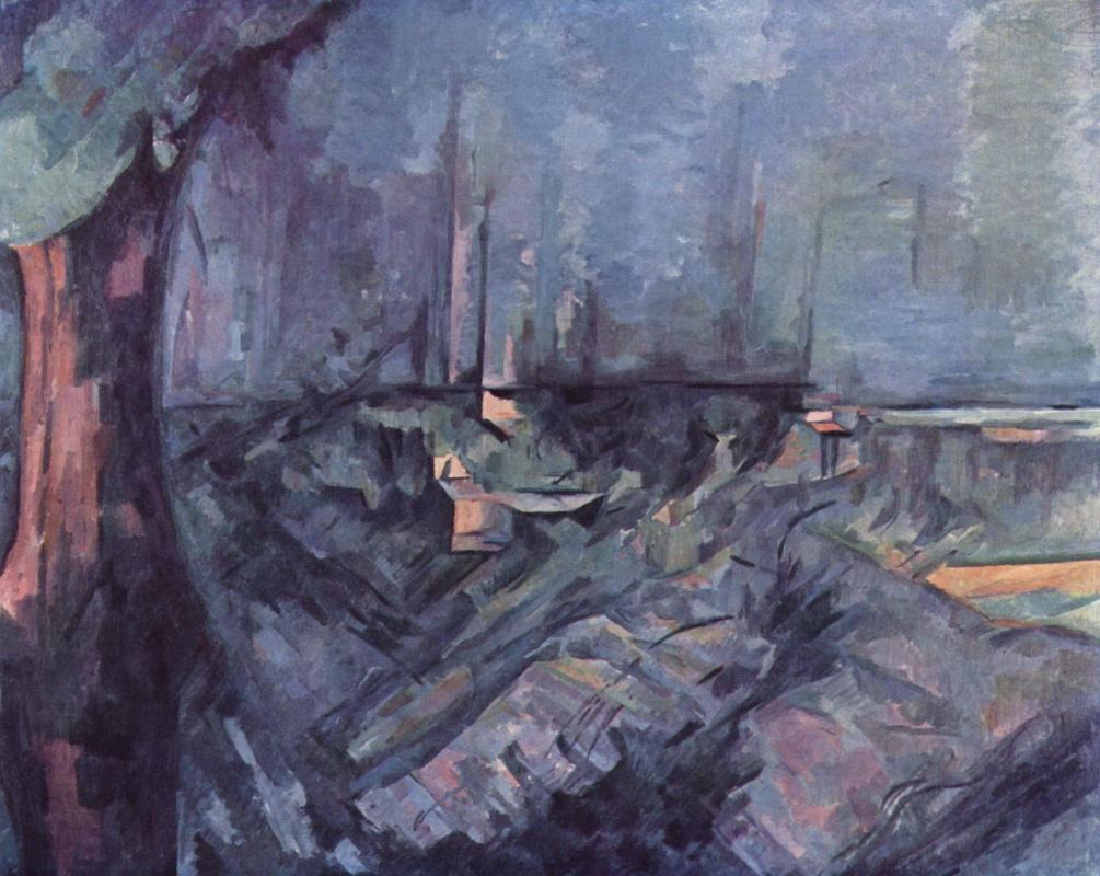 Paul Cezanne. The sea in Annecy
