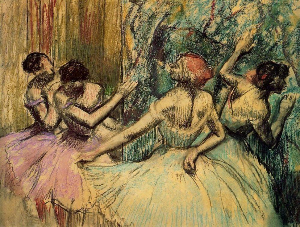 Эдгар Дега. Балерины за кулисами