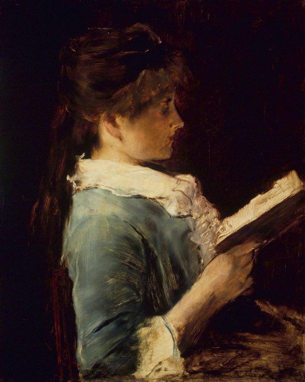 """Михай Либ Мункачи. Девушка с книгой. Эскиз для картины """"Потерянный рай"""""""