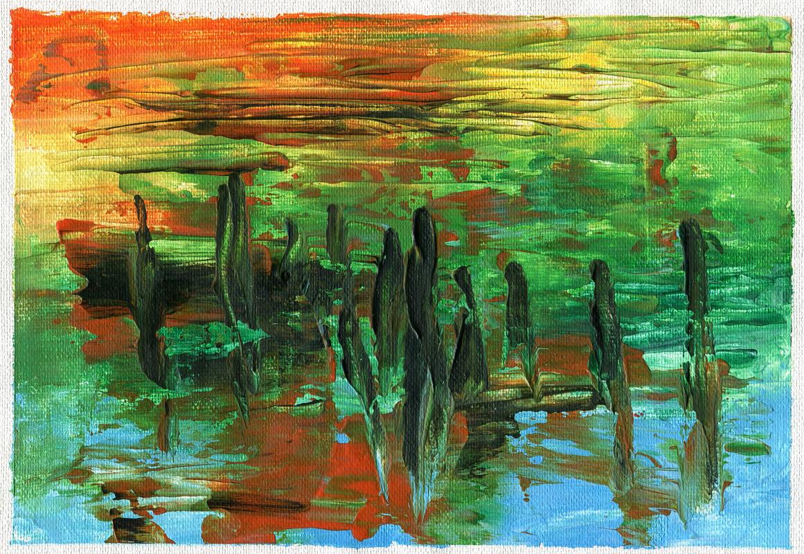 Ab Koart. Figures at Sunset