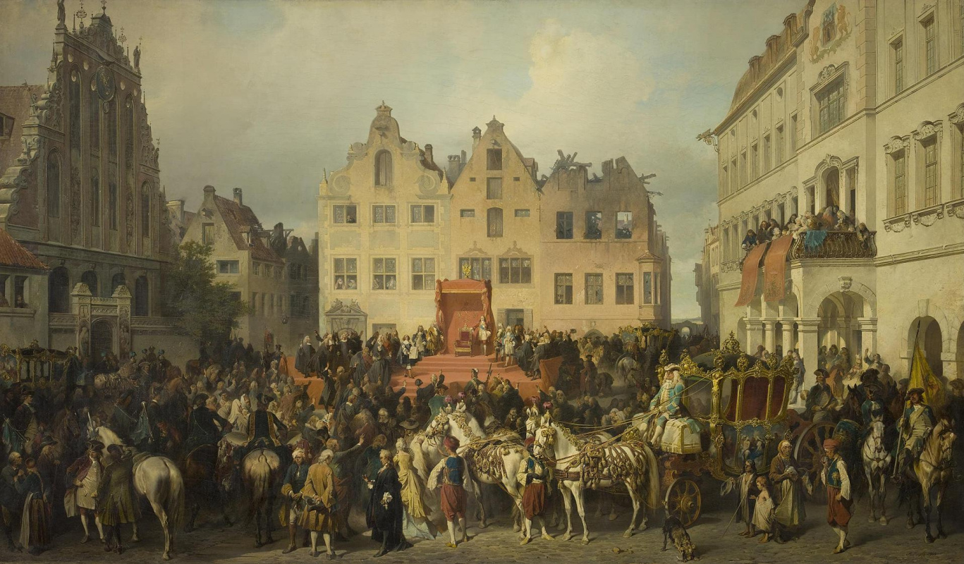 Alexander Evstafievich Kotzebue. Oath of Riga to the citizenship of Russia in 1710.