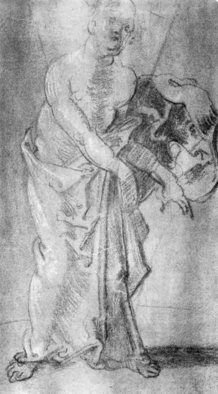 Мужчина с обнаженной верхней частью туловища