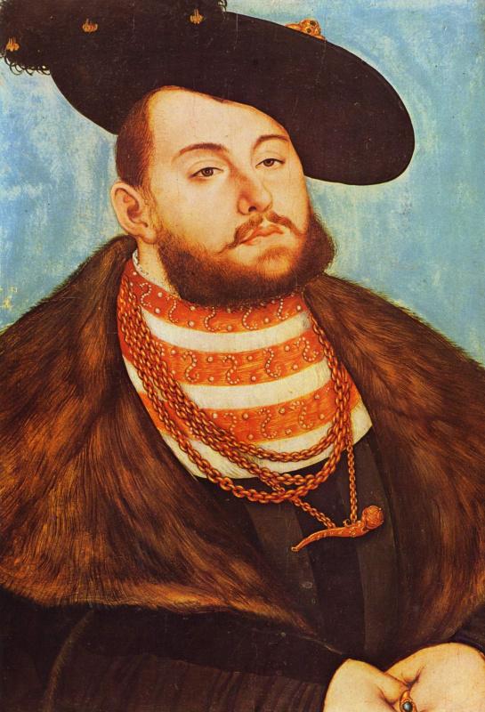 Lucas Cranach the Elder. Portrait of John Frederick, elector of Saxony
