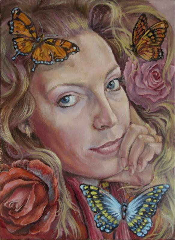 Sergey Petrovich Makeev. Female portrait.