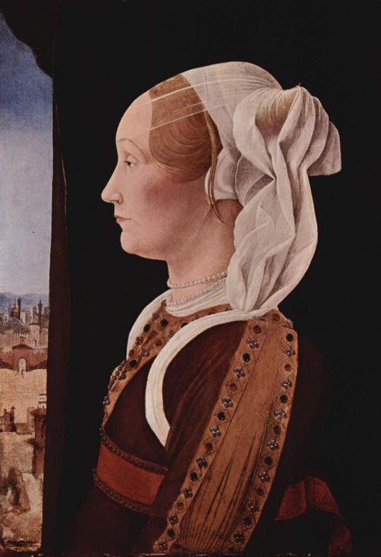 Портрет Джиневры Сфорца, супруги Джованни Бентивольо. Диптих Бентивольо, фрагмент