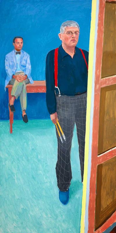 David Hockney. Self-portrait with Charlie