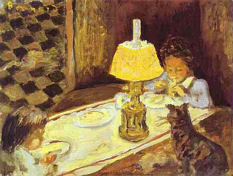 Pierre Bonnard. Girl with a cat