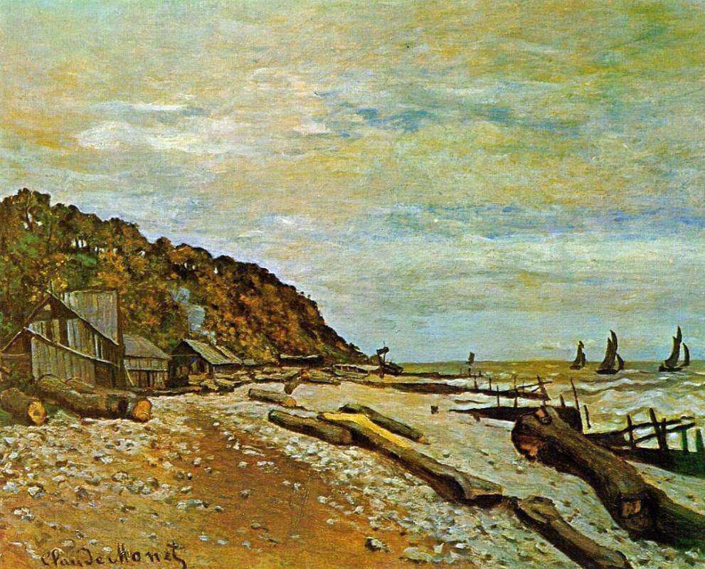 Claude Monet. Shipyard near Honfleur