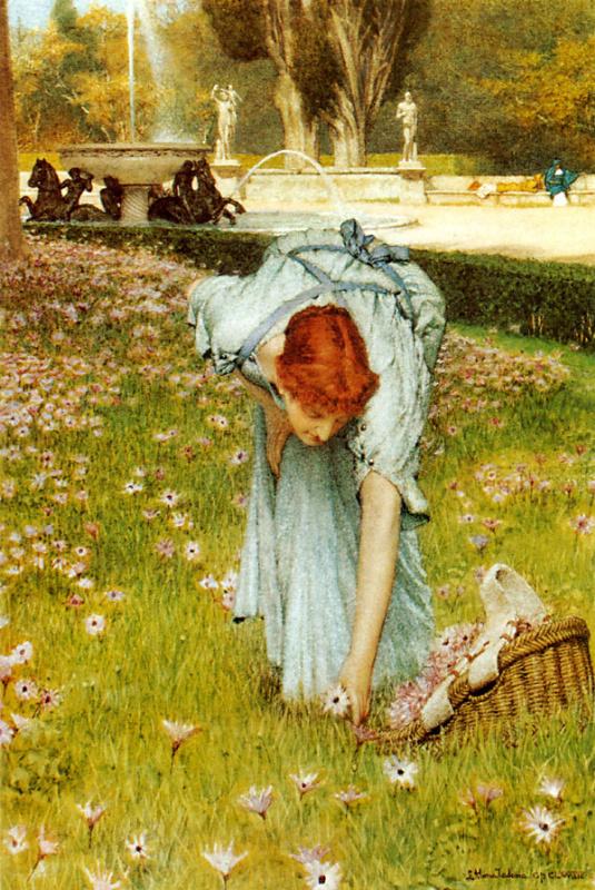 Лоуренс Альма-Тадема. Весна в садах