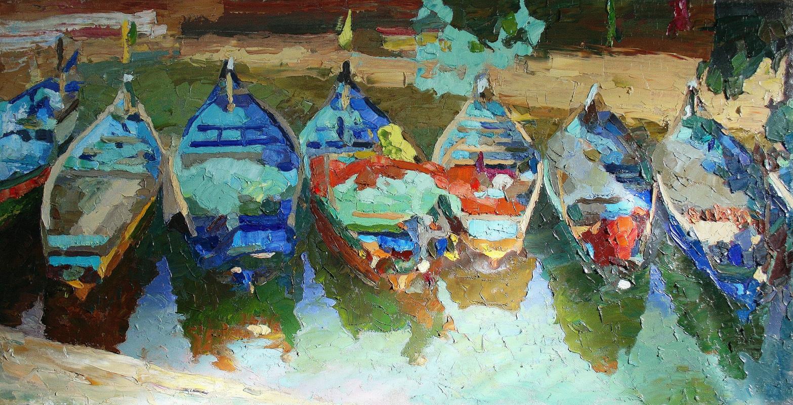 Mikhail Rudnik. Boats in Goa