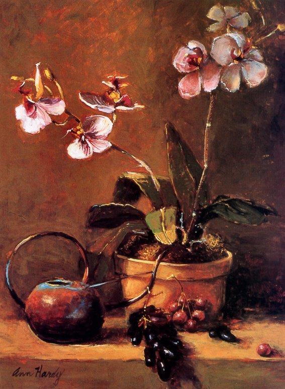 Энн Харди. Орхидеи в вазе