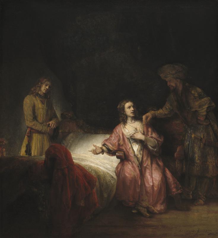 Rembrandt Harmenszoon van Rijn. Joseph, accusing Potiphar's wife