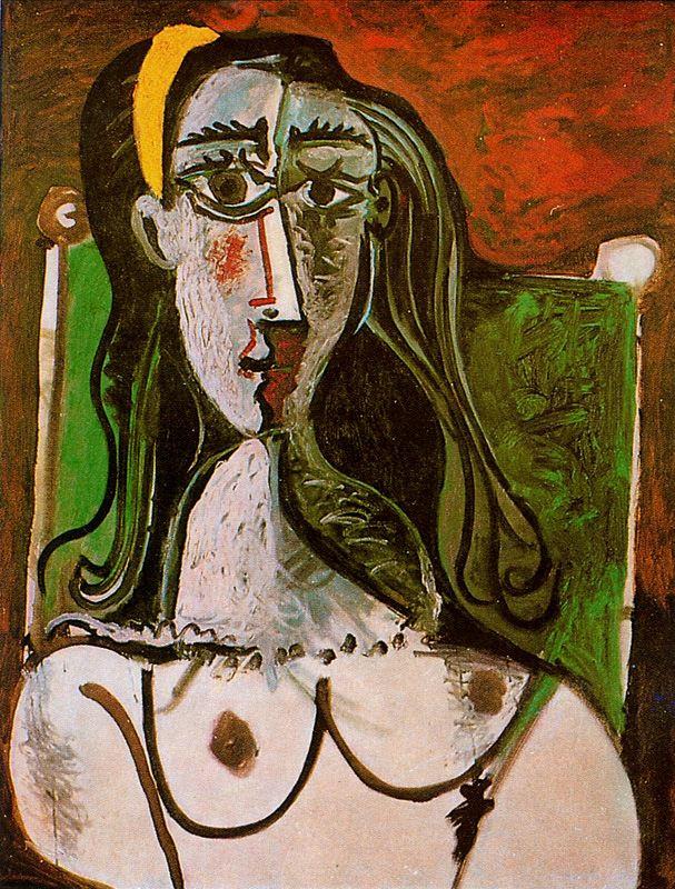 Пабло Пикассо. Бюст сидящей женщины