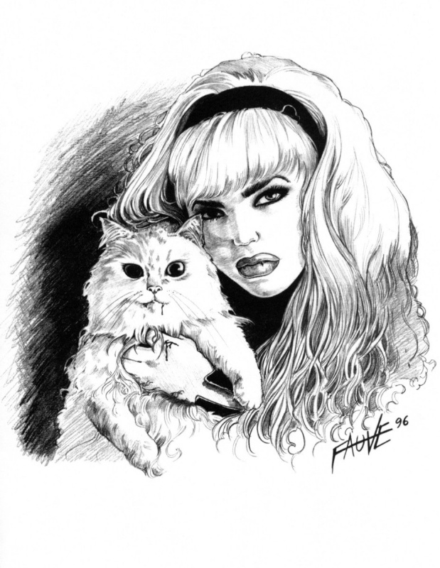 Фовизма. Девушка с котом