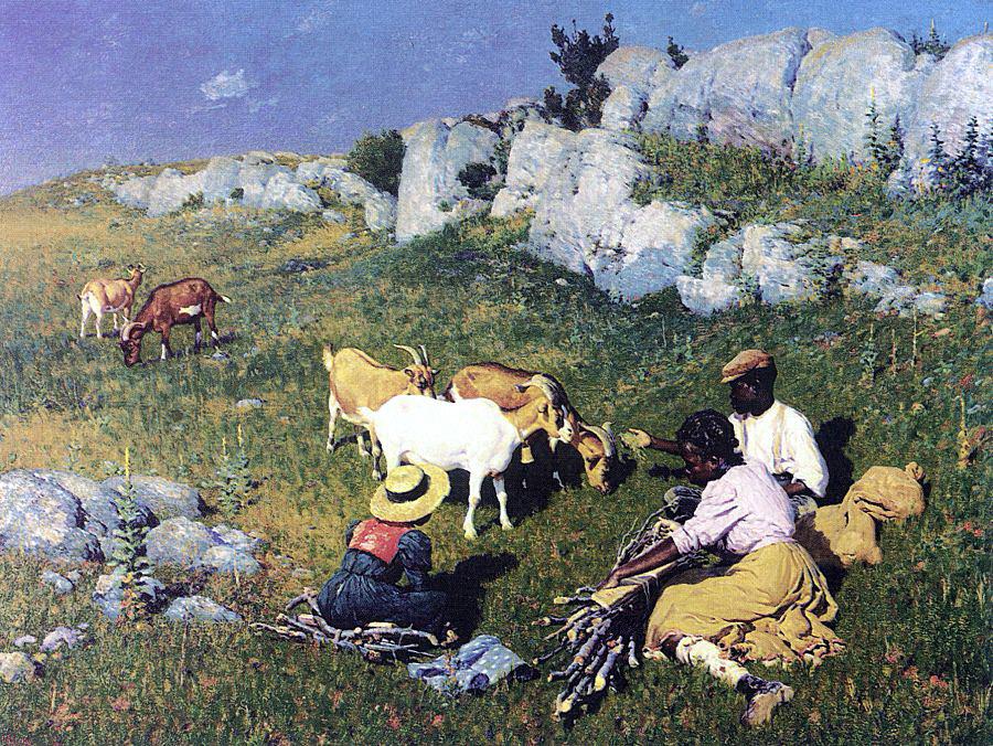 Уильям Робинсон Ли. Отдых на траве