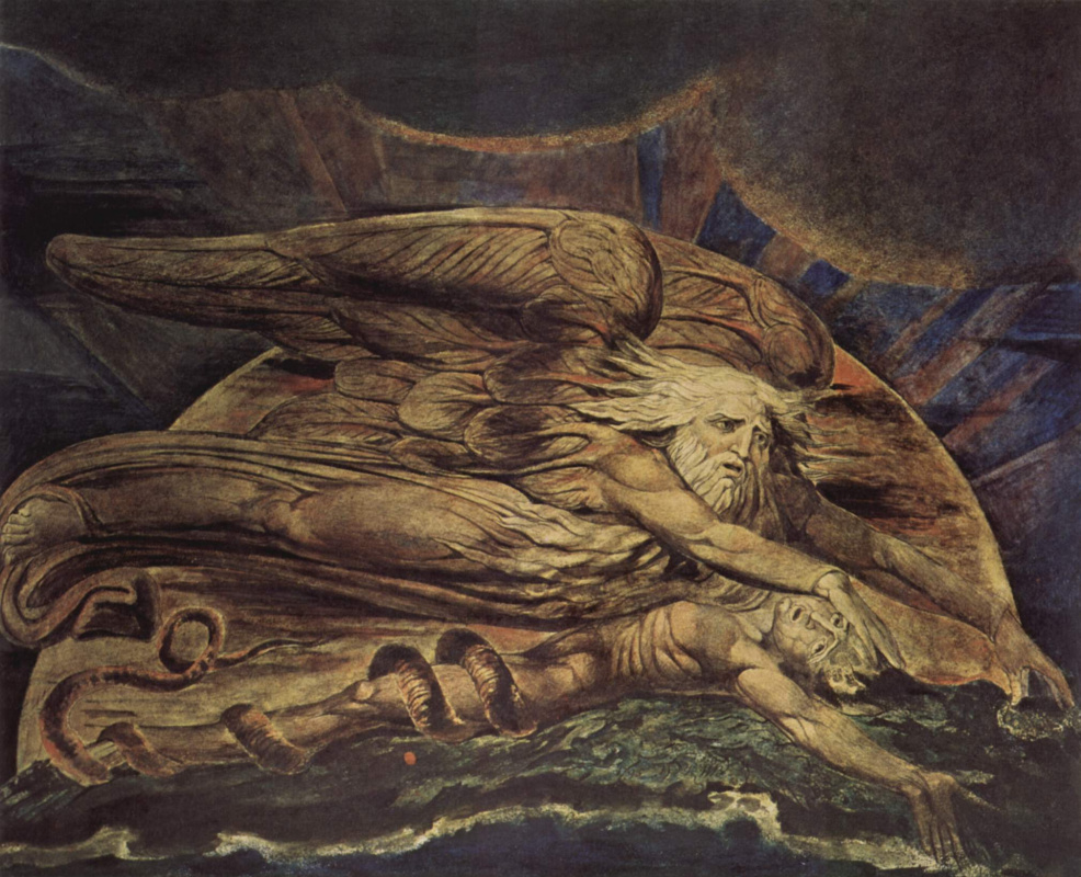 William Blake. Illustrations of the Bible. Elohim created Adam from the dust of the