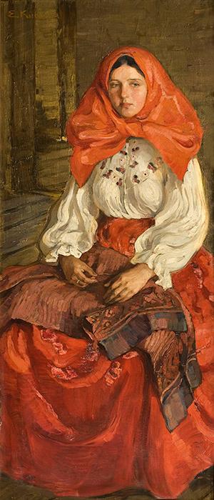 Елена Андреевна Киселева. Девушка в красном