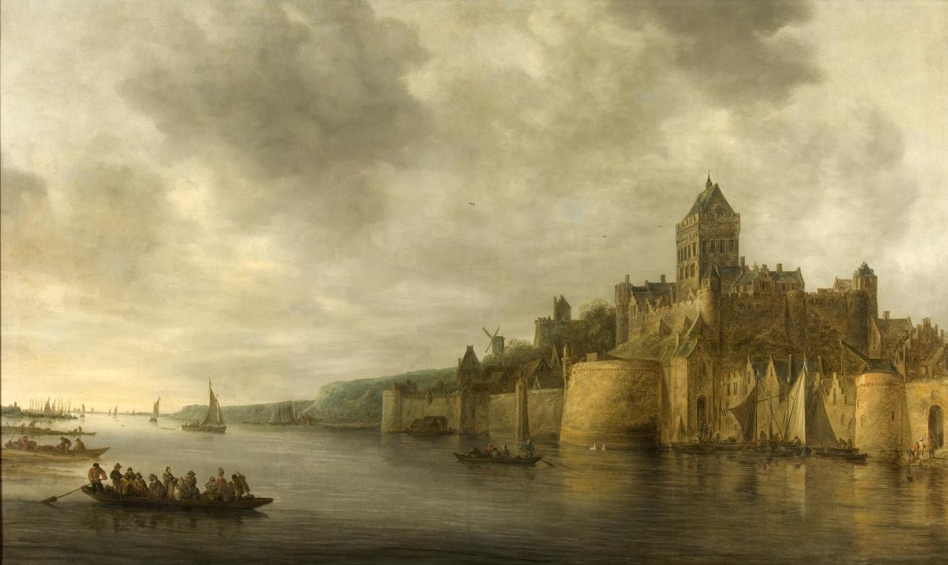 Jan van Goyen. View from North-West to the castle Valkhof in Nijmegen