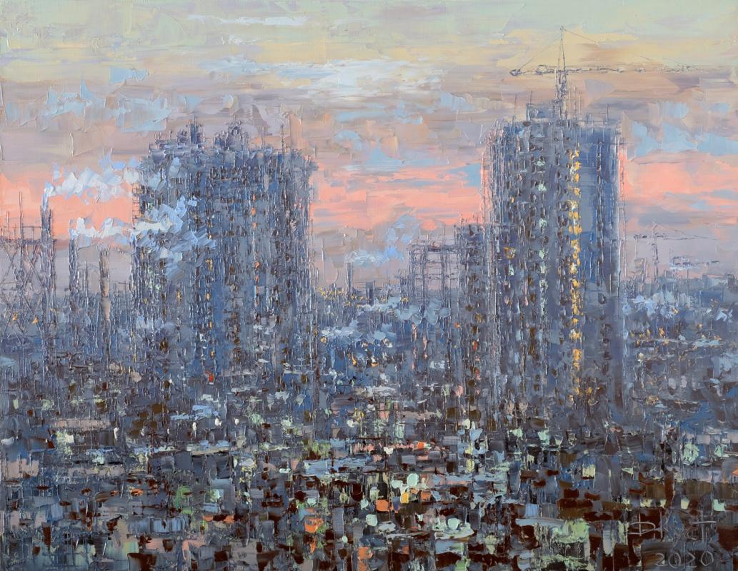 Dmitry Alexandrovich Kustanovich. Evening over the city