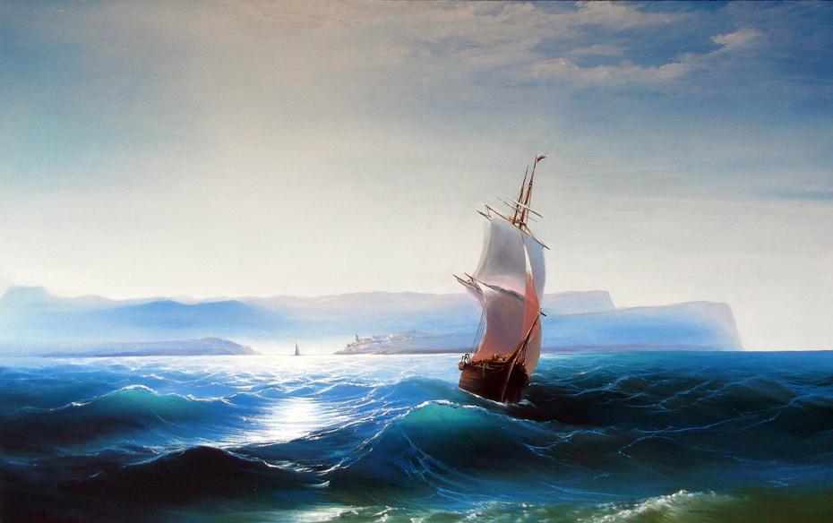 Unknown artist. Seascape 80x50 cm.