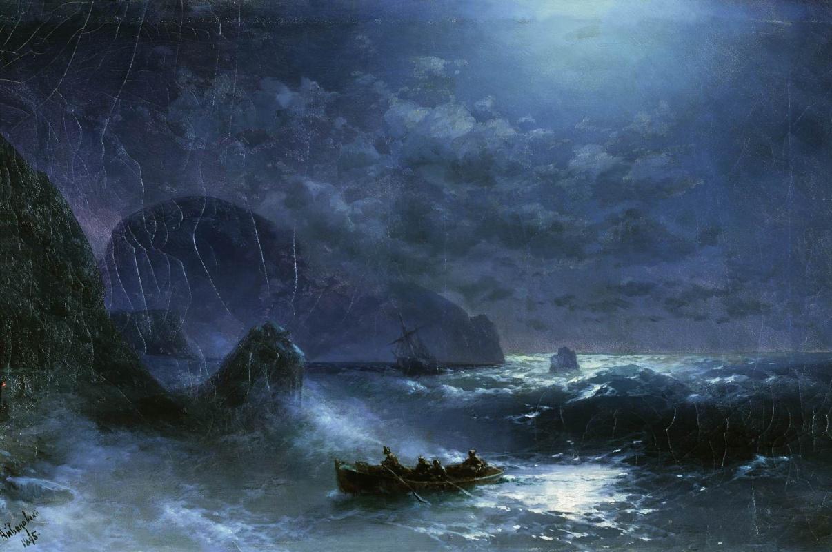 Иван Константинович Айвазовский. Лунная ночь на море