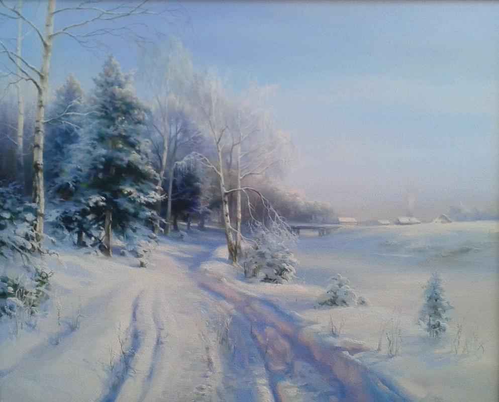 Sergey Vladimirovich Vorotilov. Winter road