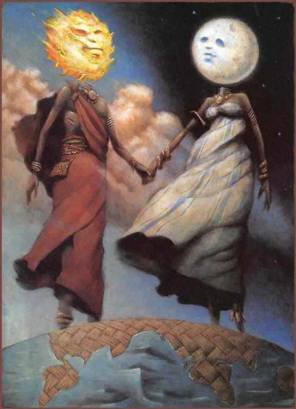 Дэвид Шеннон. Солнце и луна
