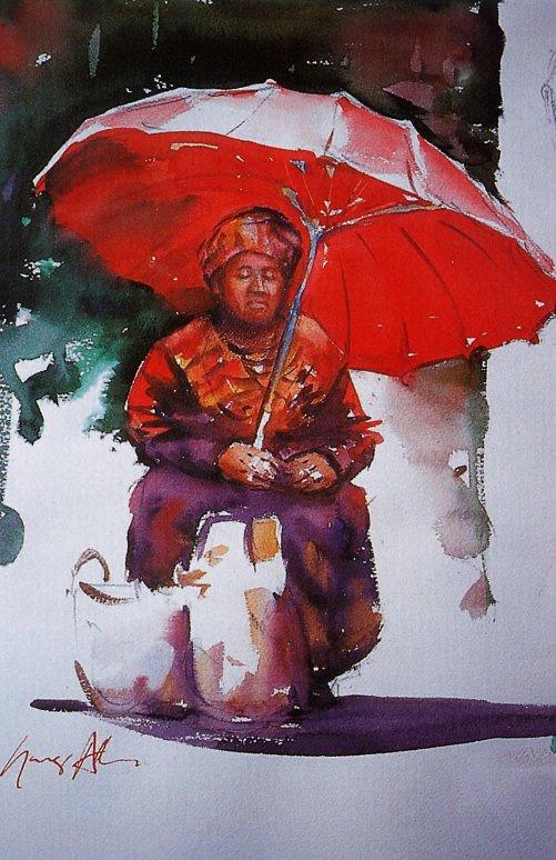 Грег Аллен. Красный зонт