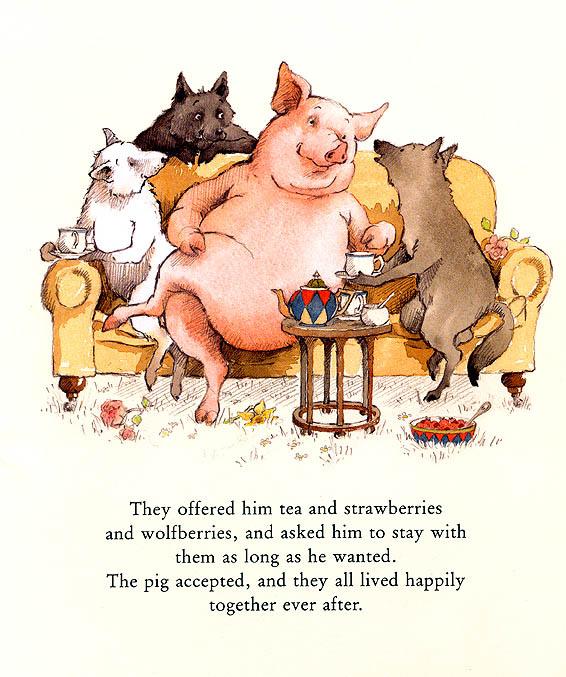 Хелен Охенбуру. Три маленьких волчонка и большой плохой свин 18