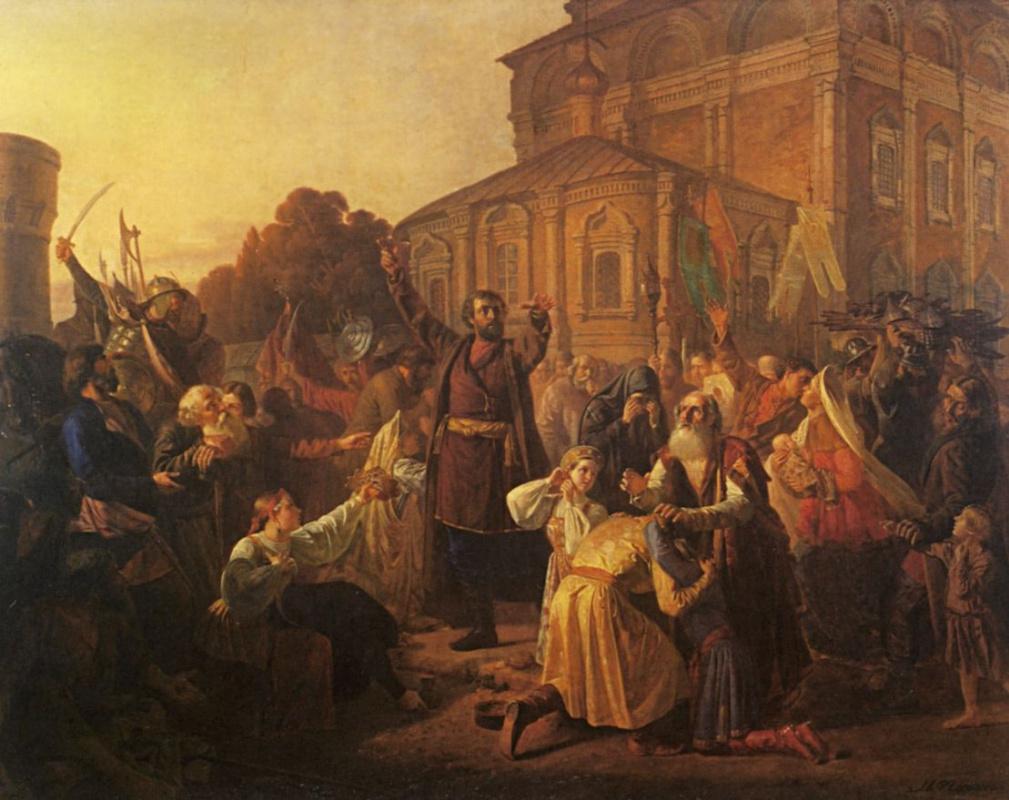 Михаил Иванович Песков. Воззвание Минина к нижегородцам в 1611 году