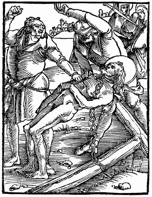 Ханс Бальдунг. Христос, падающий под ударами на крест