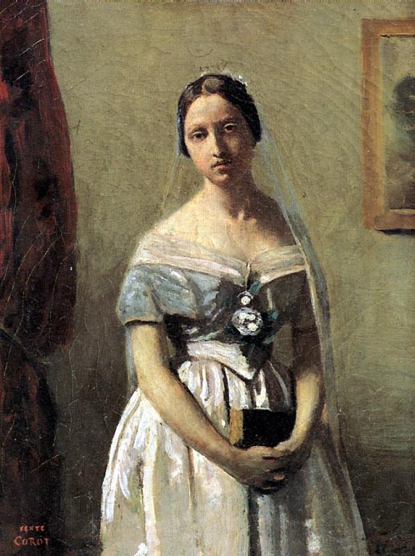 Камиль Коро. Женщина с жемчугом (Невеста)