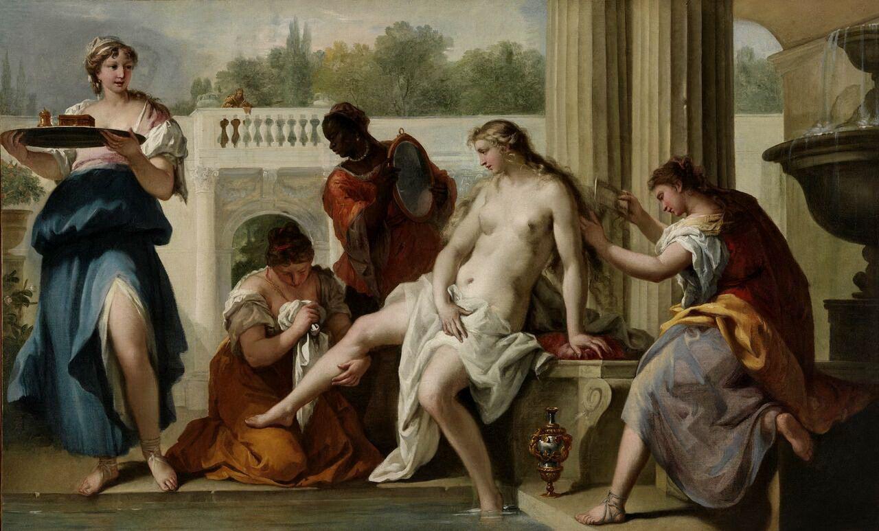 Sebastiano Ricci. Bathing Bathsheba